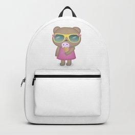 hello summer: cute bear with icecream Backpack