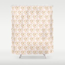 Rose Gold Watercolor Tile Shower Curtain
