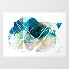 Shapescape  Art Print