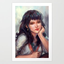 Thinking of a song... Art Print