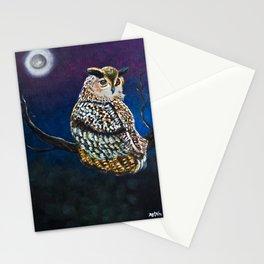 Owl Coat - Ugla Skyrta Stationery Cards
