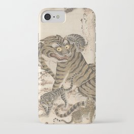 Tiger Family, Korean Art, 1800s iPhone Case
