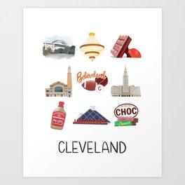 Cleveland Art Print