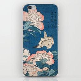 Katsushika Hokusai - Peonies and Canary, 1834 iPhone Skin