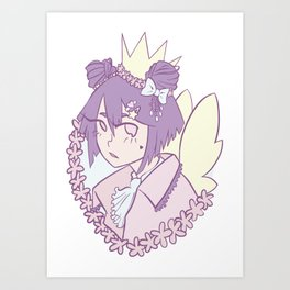 Pastel fairy Art Print