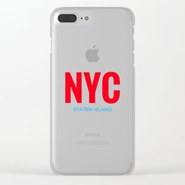 NYC Staten Island Clear iPhone Case