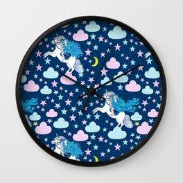 Unicorn dreams Wall Clock