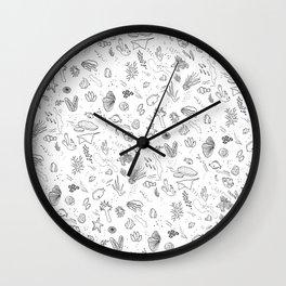ocean b/w Wall Clock