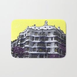 Architecture photography - Casa Mila by legend architect Antoni Gaudi - Barcelona, Spain Bath Mat