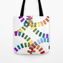 Colorful interlocking block pattern Tote Bag