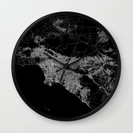 Los Angeles map  Wall Clock