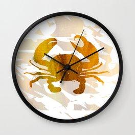 Colorful Art Crab Abstract Wall Clock