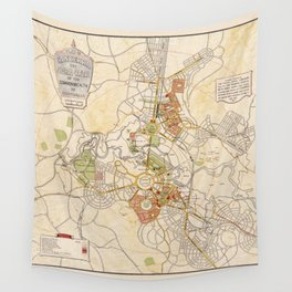 Map of Canberra 1927 Wall Tapestry