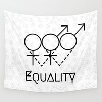 equality Wall Tapestries featuring Marriage Equality by Purshue feat Sci Fi Dude