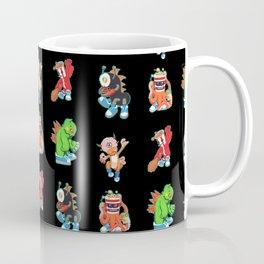 Kaiju Food Monster Pattern #2 in Black Coffee Mug