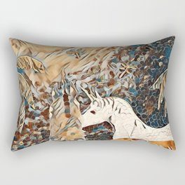 """Unicorn Love"" Rectangular Pillow"