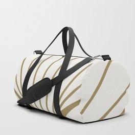 Diamond Series Round Sun Burst Gold on White Duffle Bag