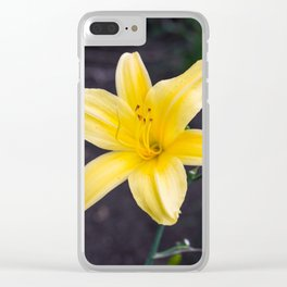 Yellow Lily Clear iPhone Case