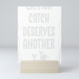 Fisherman Funny Catfish Fishing Rod Fish Hobby Gift Mini Art Print