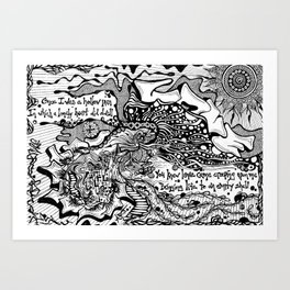 Drawing Love Art Print