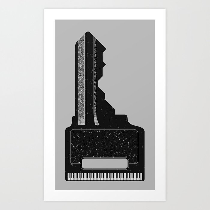 Piano Key. Art Print