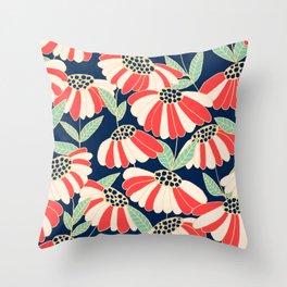 Botany pattern Throw Pillow