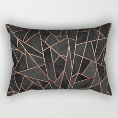 Shattered Black / 2 Rectangular Pillow
