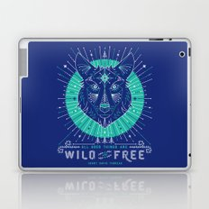 Wild & Free Wolf – Navy Laptop & iPad Skin