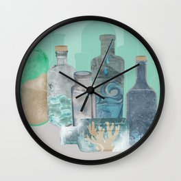 Deconstructed Beach Wall Clock