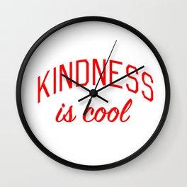 Kindness is Cool Wall Clock