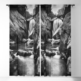 Waterfall in the old forest Blackout Curtain