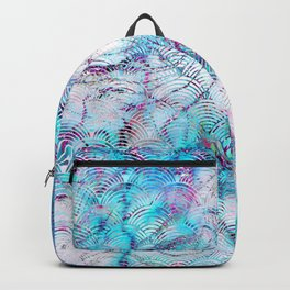 Rainbow Magic Faux Marble Aqua Art Deco Pattern Backpack