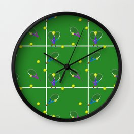 Tennis Rackets and Ball Wall Clock