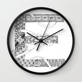 """Zenletter """"E"""" Wall Clock"""