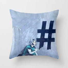 Grafitti # diese girl Throw Pillow