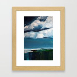 Landscape with clouds Framed Art Print