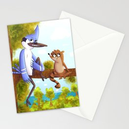 Regular Show - Mordecai and Rigby Stationery Cards