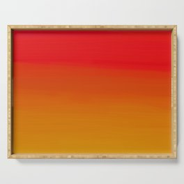 Red Apple and Golden Honey Ombre Sunset Serving Tray