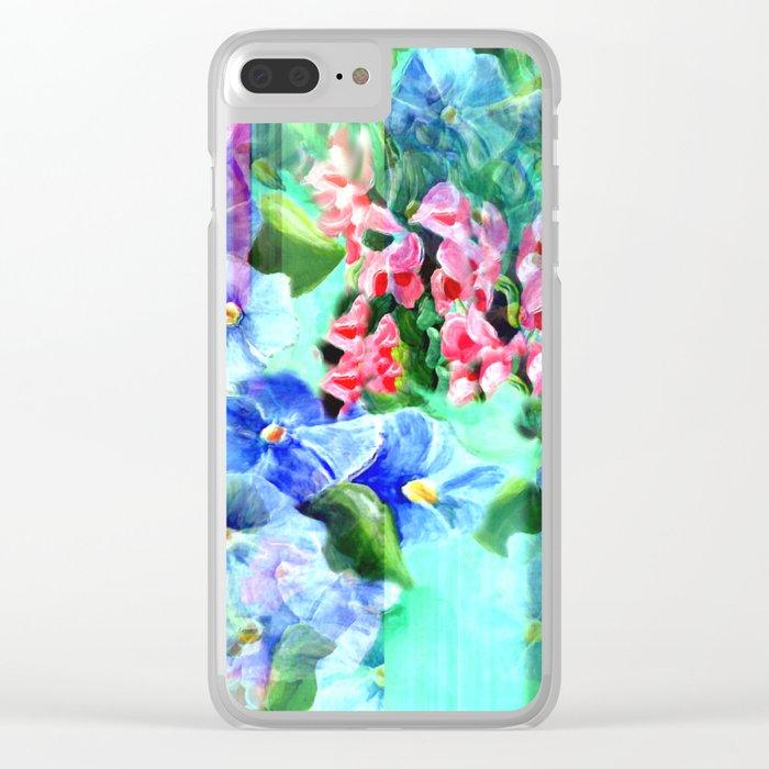 Glassy Garden Clear iPhone Case