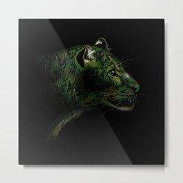 Green Jaguar Metal Print