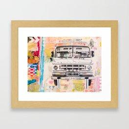 Bolivian Bus Framed Art Print