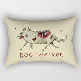 Dog Walker Rectangular Pillow