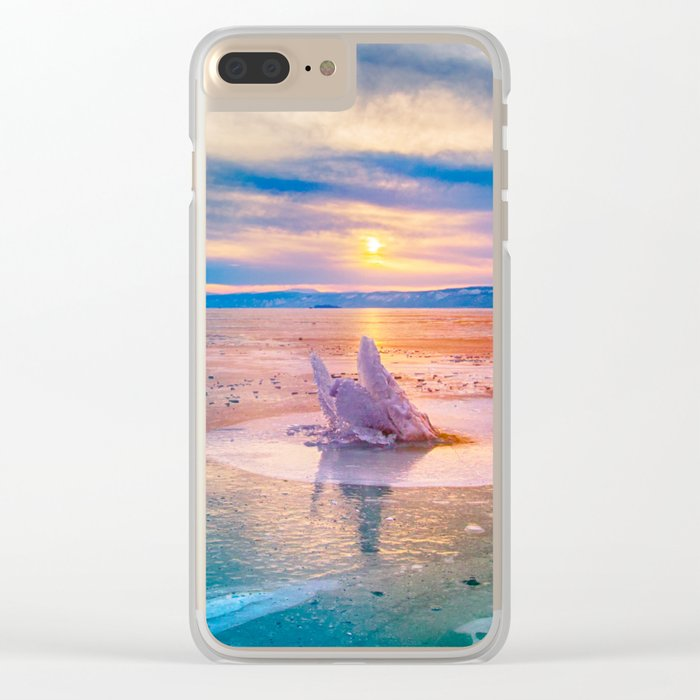 The Strange Ice Circle of Baikal Clear iPhone Case