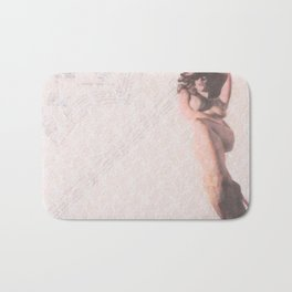 Reclining Lace Nude Bath Mat