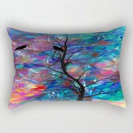 Love Birds Abstract #society6 #decor #lovebirds by Lena Owens @OLena Art Rectangular Pillow