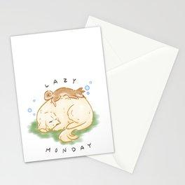 Lazy Monday Dogs Stationery Cards