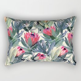 Painted Protea Pattern Rectangular Pillow