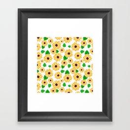 Watercolor Sunflowers Framed Art Print