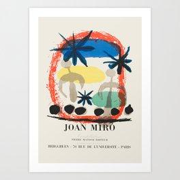Joan Miro - Exhibition poster Art Print