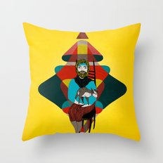Goat Herder 2 Throw Pillow